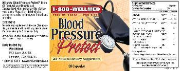 1-800 WellMed Blood Pressure Protect - allnatural supplement