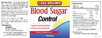 1-800 WellMed Blood Sugar Control - supplement