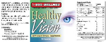 1-800 WellMed Healthy Vision - allnatural support