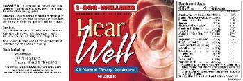 1-800 WellMed Hear Well - allnatural supplement