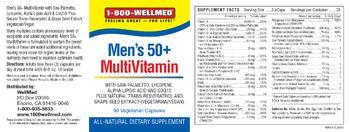 1-800 WellMed Men's 50+ MultiVitamin - allnatural supplement