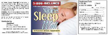 1-800 WellMed Nature's Sleep Well - allnatural supplement