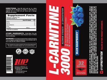 1 Up Nutrition L-Carnitine 3000 Blue Raspberry - supplement