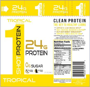 1Shot Protein LLC 1Shot Protein Tropical -