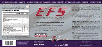 1st Endurance EFS Electrolyte Fuel System Mild Grape - energy drink supplement