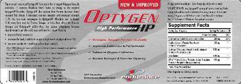 1st Endurance Optygen High Performance HP - endurance supplement