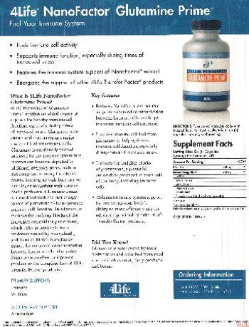 4Life Nanofactor Glutamine Prime - supplement