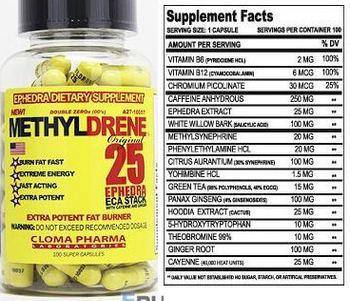 Cloma Pharma Laboratories Methyldrene 25 - ephedrsupplement
