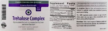 D'Adamo Personalized Nutrition Trehalose Complex - supplement