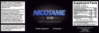 Defiant Innovations, LLC. Nicotame - supplement