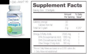 Diachieve Pharmaceutical-Grade Omega-3 -
