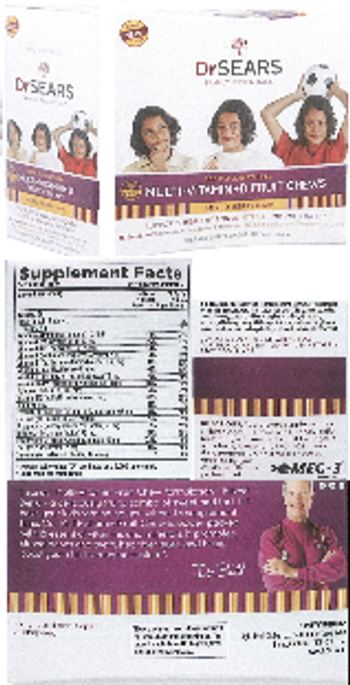 Dr Sears Family Essentials Multi-Vitamin+D Fruit Chews Mixed Berry Flavor - supplement