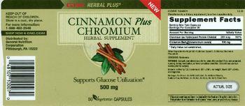 GNC Hernal Plus Cinnamon Plus Chromium - herbal supplement