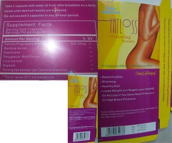 Guangzhou Health Commodities Fat Loss Slimming Beauty - supplement