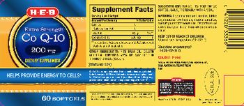 H-E-B Extra Strength Co Q-10 200 mg - supplement