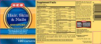 H-E-B Hair Skin & Nails - supplement