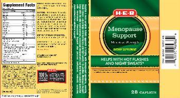 H-E-B Menopause Support Maximum Strength - supplement