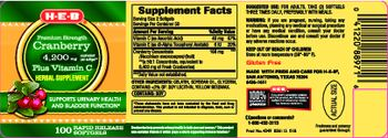 H-E-B Premium Strength Cranberry 4,200 mg - herbal supplement