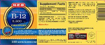 H-E-B Sublingual B-12 2,500 mcg Natural Cherry Flavor - vitamin supplement