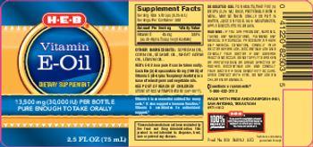 H-E-B Vitamin E-Oil - supplement