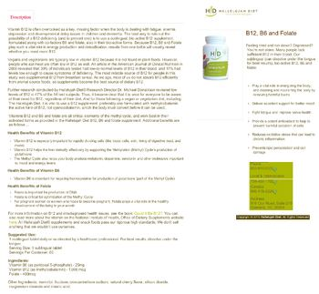 Hallelujah Diet B12 B6 & Folate Cherry -