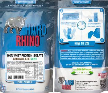 Hard Rhino 100% Whey Protein Isolate Chocolate Mint - supplement