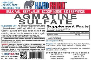 Hard Rhino Agmatine Sulfate - supplement