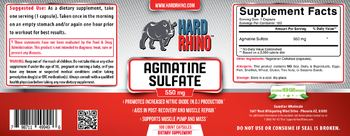 Hard Rhino Agmatine Sulfate 550 mg - supplement