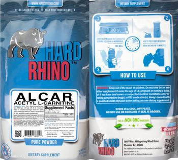 Hard Rhino ALCAR Acetyl L-Carnitine - supplement