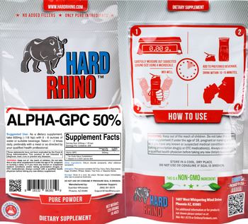 Hard Rhino Alpha-GPC 50% - supplement