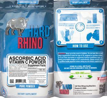 Hard Rhino Ascorbic Acid Vitamin C Powder - supplement