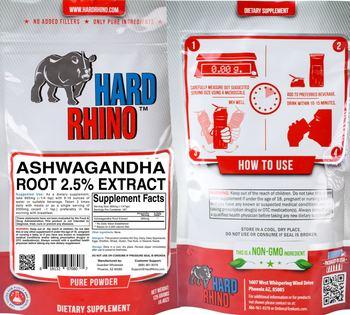 Hard Rhino Ashwagandha Root 2.5% Extract - supplement