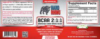 Hard Rhino BCAA 2:1:1 3000 mg - supplement