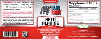 Hard Rhino Beta Alanine 800 mg - supplement