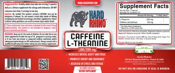 Hard Rhino Caffeine L-Theanine 100/200 mg - supplement