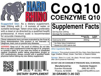Hard Rhino CoQ10 Coenzyme Q10 - supplement