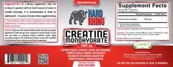 Hard Rhino Creatine Monohydrate 4000 mg - supplement