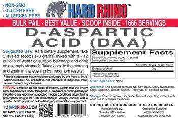 Hard Rhino D-Aspartic Acid (DAA) - supplement