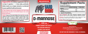 Hard Rhino D-Mannose 1500 mg - supplement