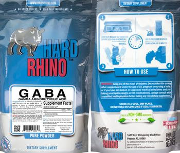 Hard Rhino GABA Gamma Aminobutyrium Acid - supplement