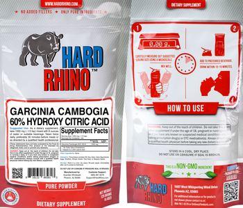 Hard Rhino Garcinia Cambogia 60% Hydroxy Citric Acid - supplement