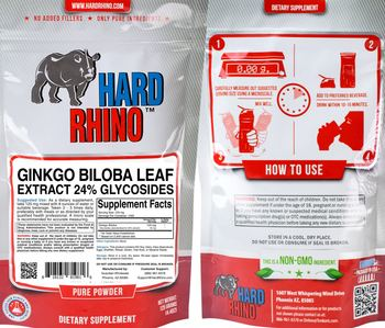 Hard Rhino Ginkgo Biloba Leaf Extract 24% Glycosides - supplement