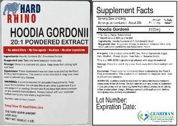 Hard Rhino Hoodia Gordonii 20:1 Powdered Extract - supplement