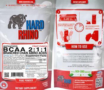 Hard Rhino Instantized BCAA 2:1:1 Fruit Punch - supplement