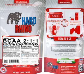 Hard Rhino Instantized BCAA 2:1:1 - supplement