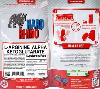 Hard Rhino L-Arginine Alpha Ketoglutarate - supplement