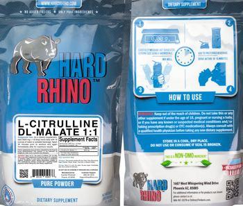 Hard Rhino L-Citrulline DL-Malate 1:1 - supplement