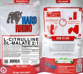 Hard Rhino L-Citrulline DL-Malate 2:1 - supplement