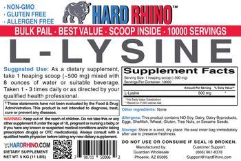 Hard Rhino L-Lysine - supplement