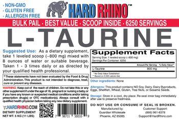 Hard Rhino L-Taurine - supplement